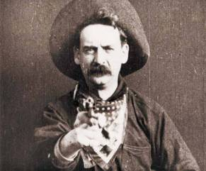 Still from Edwin S. Porter's The Great Train Robbery, courtesy of the Public Domain Review